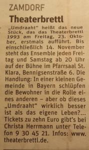 Artikel im Münchner Wochenanzeiger